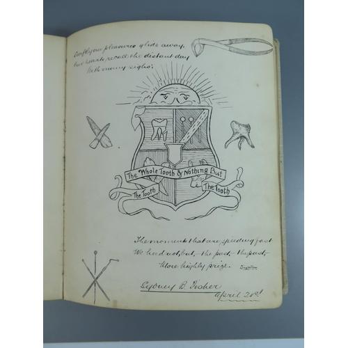 303f - A Late Victorian Autograph Sketch Book...