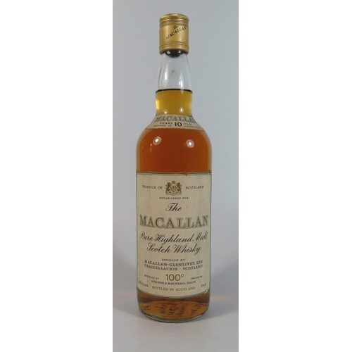 334C - Macallan Pure Highland 10 Year Old Malt scotch Whiskey...