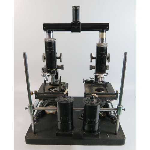 302f - A Forensic Comparison Microscope by W. Watson & Sons Ltd....