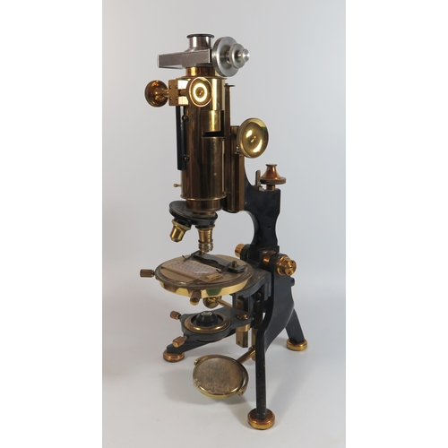 302G - A Microscope by W. Watson with accessories...