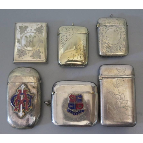 12 - A collection of silver plated and other vestas...