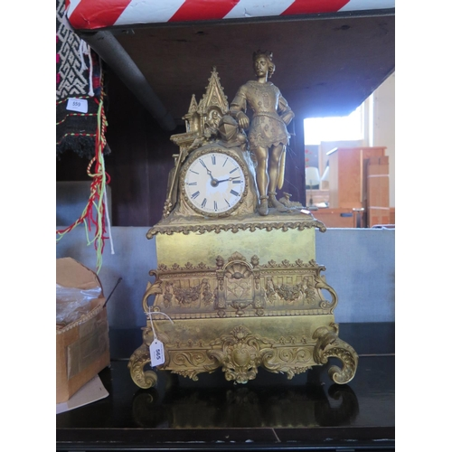 565 - Blaquart - a damaged French mantle clock...