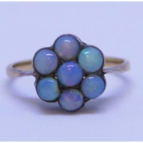 20 - An Opal Cluster Ring, size H, 1.5g...