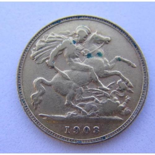 38 - A 1903 Gold Half Sovereign...