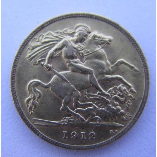 40 - A 1912 Gold Half Sovereign...