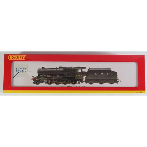 33 - A OO-Gauge Hornby R2249 LMS 2-8-0 Class 8F Loco Weathered '8042'. boxed and appears unused...