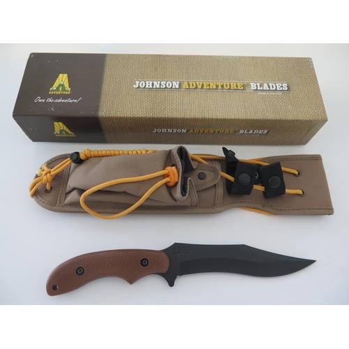 32 - A Ka-Bar 5601 Johnson Adventure Baconmaker Sheath Knife...