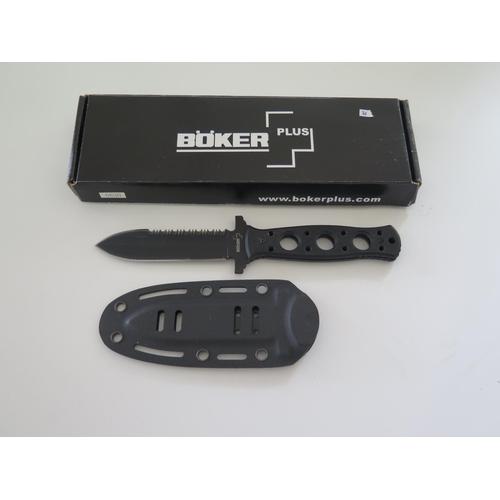 36 - A Boker Plus Steel Mariner Knife 02BO285 (missing sheath fixings)...