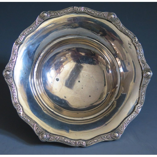 359 - A George VI Silver Presentation Dish with inscription commemorating the launch of M.V. FAIENCE, Birm...