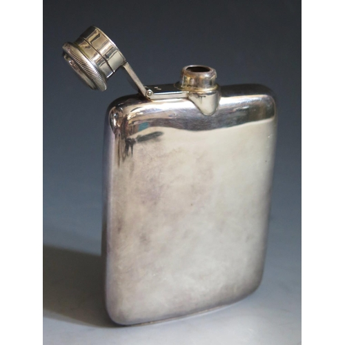 360 - A George VI Silver Hip Flask, Sheffield 1946, Atkin Bros., 12.5cm, 160g ***PHONE BID***...