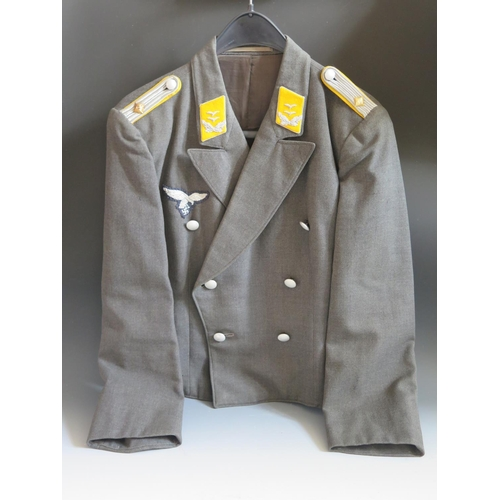 392 - A WWII German Luftwaffe Wrap-Over Tunic...