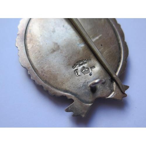 410 - A German Imperial Pilot's Badge, back stamped C.E. JUNKER .800 silver, cased...