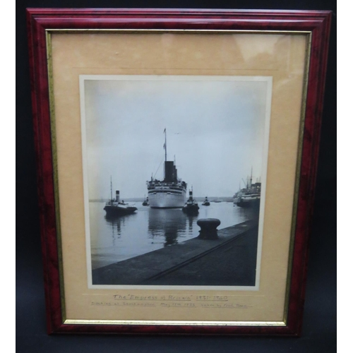 19 - Fred Bone, The Empress of Britain, photographic print, F&G, 25x20cm...