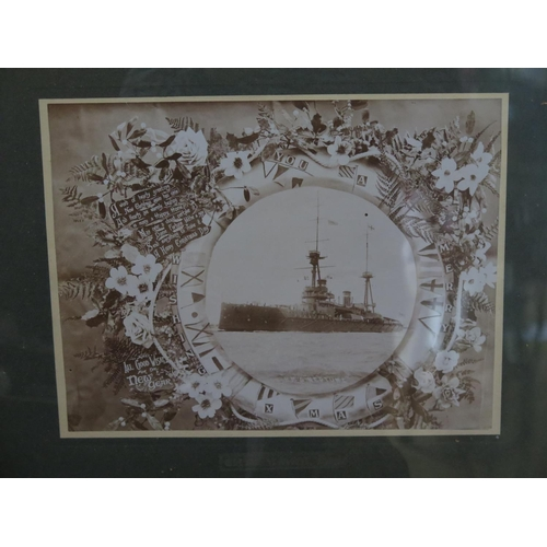 26 - H.M.S. Neptune Wishing You A Merry Christmas, photographic print, F&G, 28x21cm...
