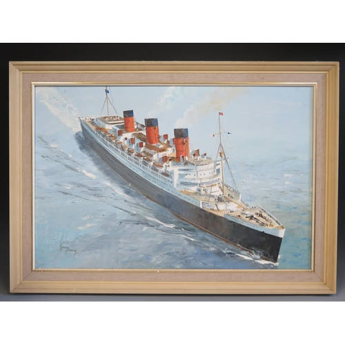 36 - Harley Crossley, QUEEN MARY, oil on canvas, framed, 74x49cm...