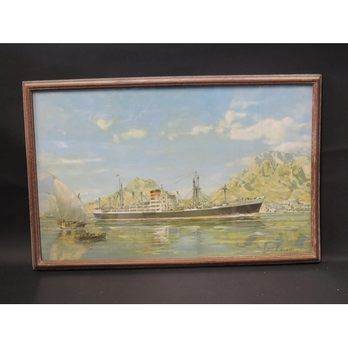 40 - E.W. Paget-Tomlinson June 1994, CLAN MALCOLM, gouache, F&G, 36.5x22.5cm and framed print...