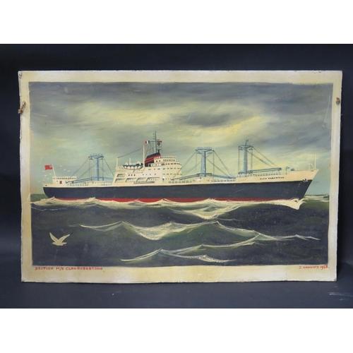 46 - I. Onnainty 1968, Clan Robertson, oil on canvas board, 60x40cm...