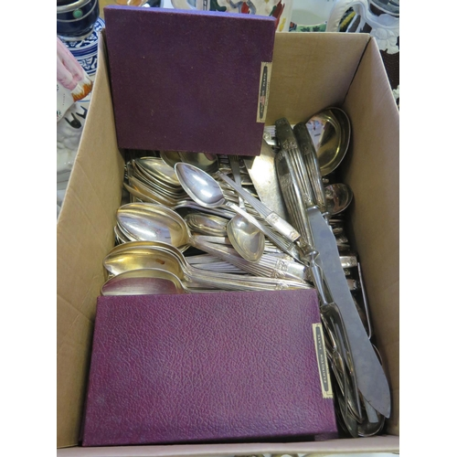 12 - A Set of Elkington Plate Cutlery for Twelve (not checked)...