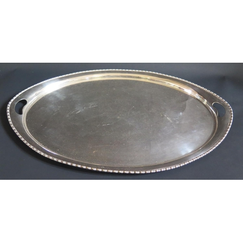 17 - A Large Elkington Plate Two Handled Tray, 63cm long...