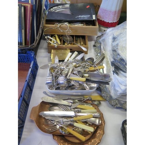 19 - A Selection of Electroplated Silver Flatware and other oddments...