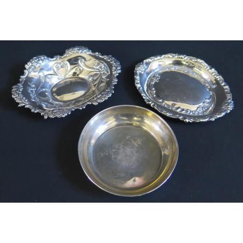 31 - An Edward VII Silver Pin Dish (Birmingham 1901), one other modern Birmingham silver pin dish Chester...