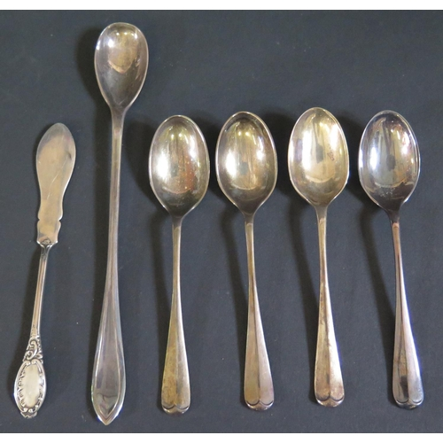 38 - A Selection of Odd Sterling Silver Flatware, 171g...