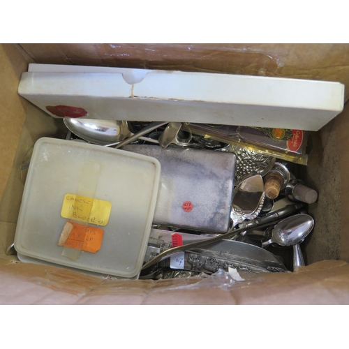 9a - A Box of Plated Flatware etc....