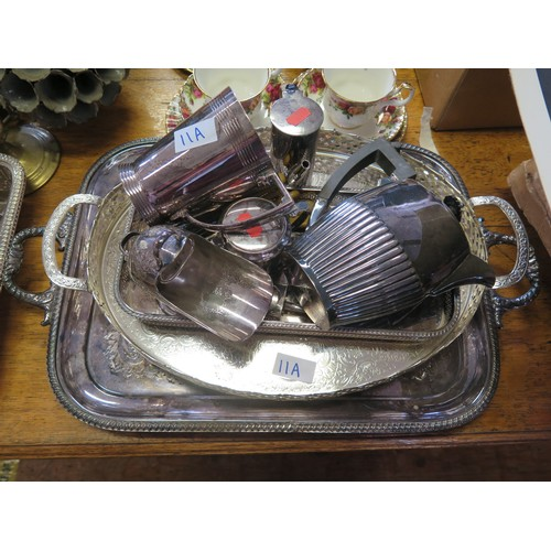 11A - Silver Plated Trays & Other Plated Items...