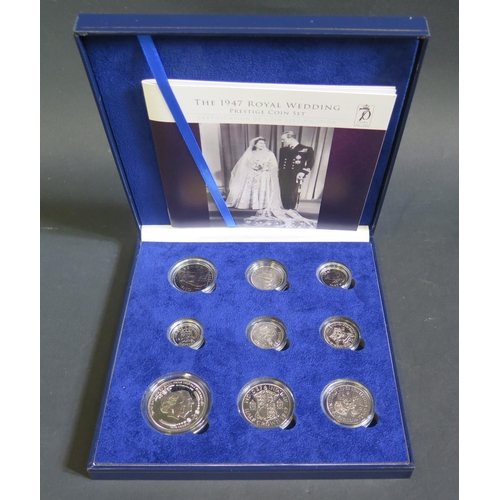 796 - A Cased Bradford Exchange Limited Edition (199) 1947 Royal Wedding Prestige Coin Set including 2017 ...