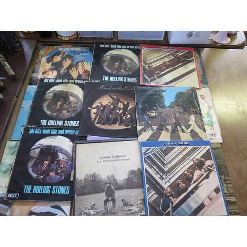709 - A Collection of Elton John, Beatles and Rolling Stones etc. LP Records...