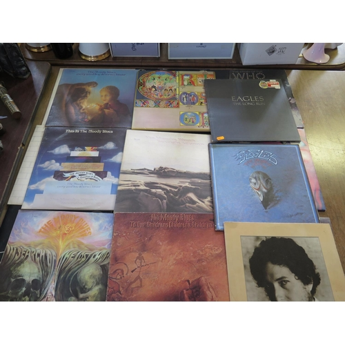 710 - A Collection of LP Records including Pink Floyd, Animals, The who, The Moody Blues and The Eagles...