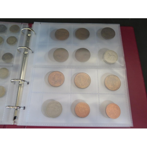800 - An Album of Mostly Pre-decimal Coins including 1948, 49, 50 & 51 Two Shillings and bag of loose coin...