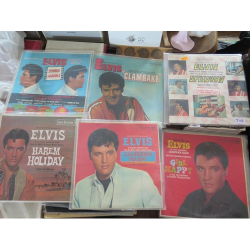 711a - A Collection of Thirteen Elvis LP's & Records including music from the 'Speedway' movie 1968...