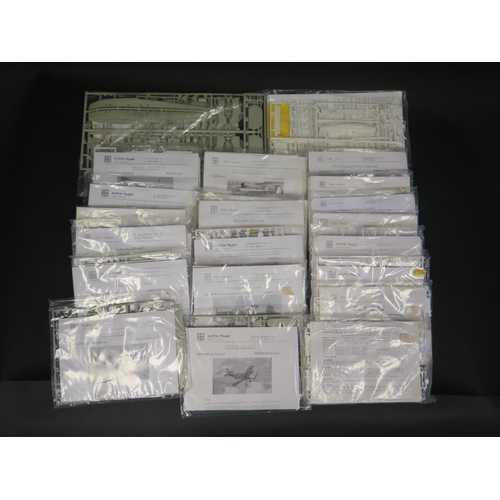 11 - Twenty-Three Huma Modell German War Plane etc. Kits 1/72 Scale.  Appear unmade, complete and bagged....