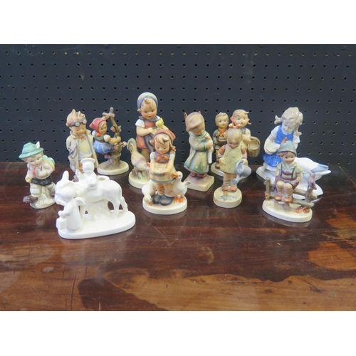 1249 - A Collection of Hummel Figurinmes etc....