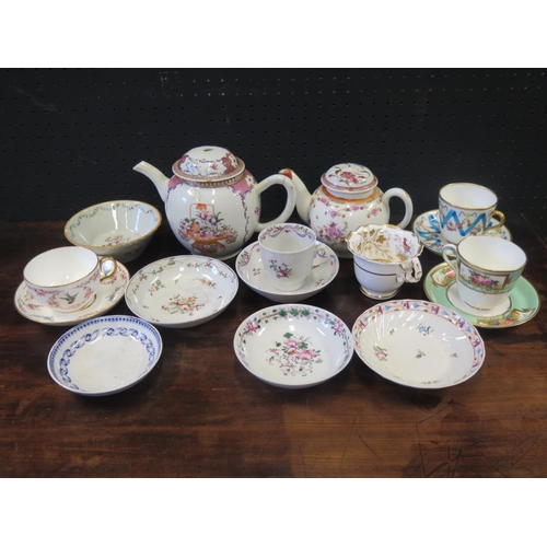 1249a - A Collection of 18th Century and later Porcelain including Lowestoft teapot with Norwich Castle Muse...
