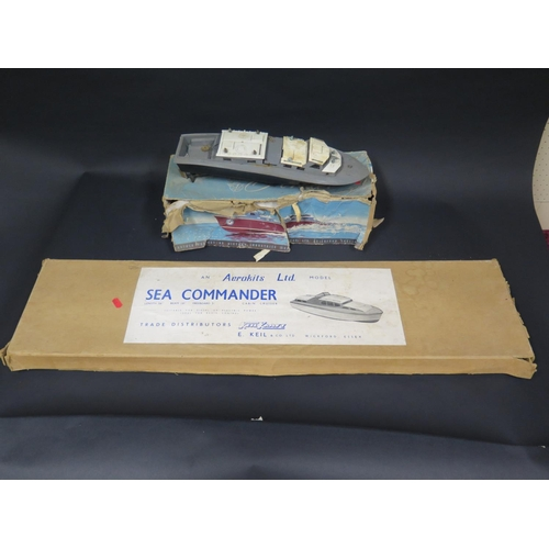 2 - A Keil Kraft Aerokits Ltd. Sea Commander Cabin Cruiser unmade wooden kit (boxed) and a Vosper R.A.F....