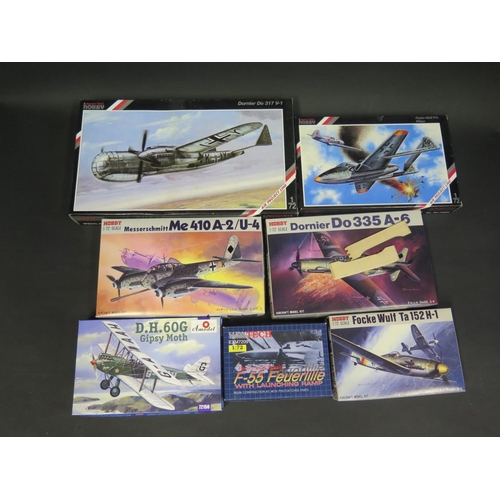29 - Seven Various WWII German War Plane etc. Kits 1/72 Scale. Including Hobby, Special Hobby, Amodel and...