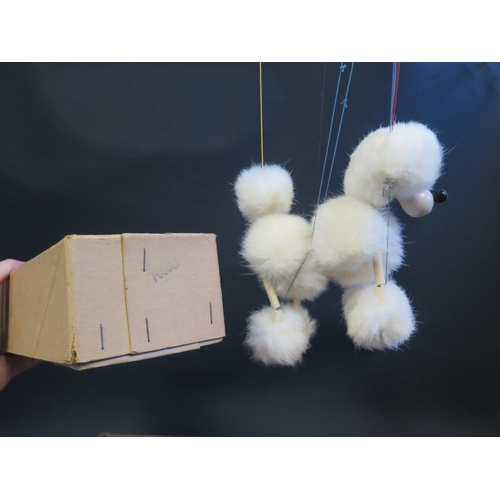 41 - A Pelham Puppet Poodle (White, White Face) in Box...