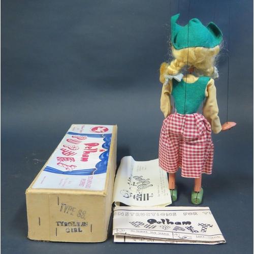 43 - A Pelham Puppet Tyrolean Girl in Box...