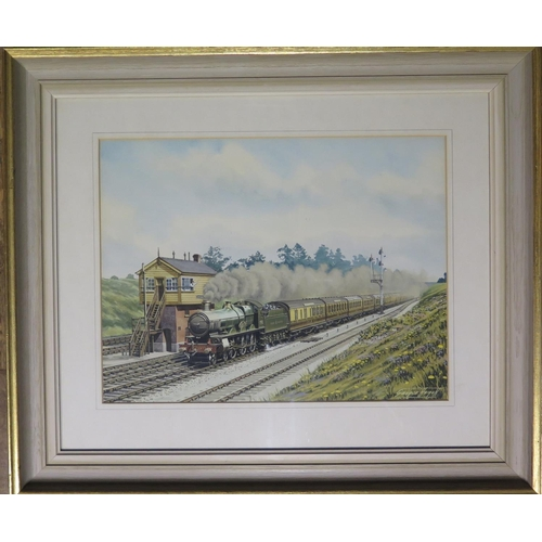 435 - George Heiron (1929 -2001) Significant C20th Railway Artist, 'No. 2973 Robins Bolitho Passing Twyfor...