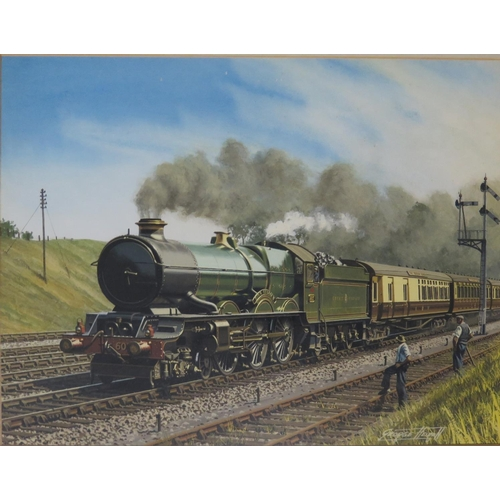 436 - George Heiron (1929 - 2001), 6028 King George VI Rushing Twyford with the Westbound