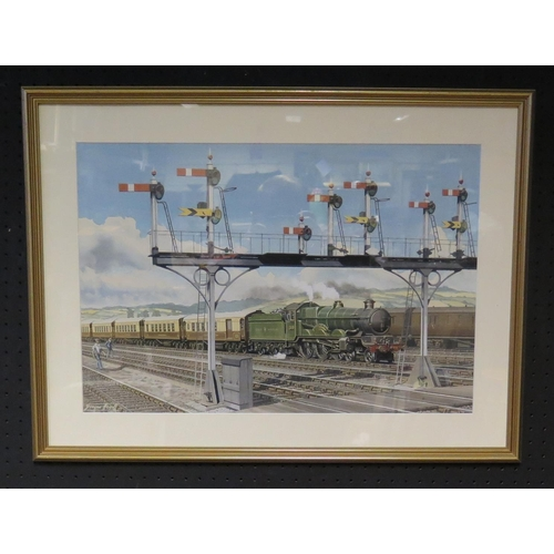 441 - George Heiron (1929 - 2001), Original Signed Watercolour of The Grand Western Steam Train 5089, and ...