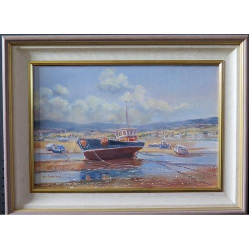 707 - Wyn Appleford, 'My Three Girls', Fishing Boat and Estuary Scene, 20th/21st Century, Oil on Canvas, 4...