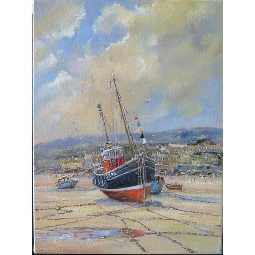 709 - Wyn Appleford, 'SS45 St. Ives', 20th/21st Century, Oil on Canvas, 41 x 31cm, Unframed...