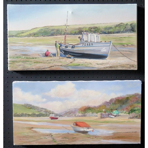 717 - Wyn Appleford, 'Gannel PZ625 and 'Little Harbour' River Gannell, 20th/21st Century, Pair of Oils on ...