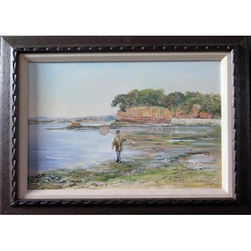 722 - Wyn Appleford, 'Lympstone Harbour', Signed, 20th /21st Century, Oil on Canvas,44 x 29cm, Framed...