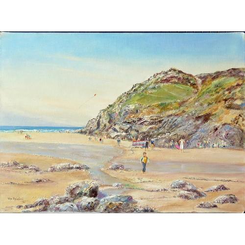 725 - Wyn Appleford, 'Chapel Porth' November 2004, Signed, Oil on Canvas, 56 x 41cm, Unframed...