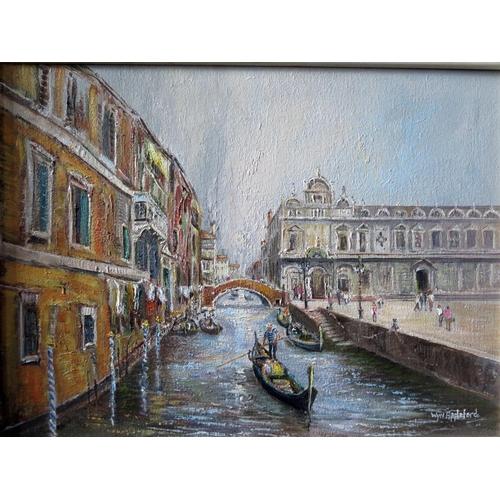 726 - Wyn Appleford, 'Venice', Signed, 20th/21st Century, Oil on Canvas, 40 x 30cm, Framed...