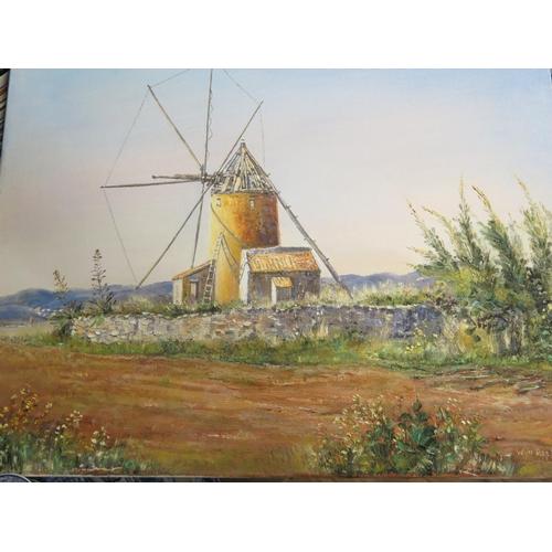 728 - Wyn Appleford, Windmill, Signed, 20th/21st Century, 61 x 51cm, Unframed...